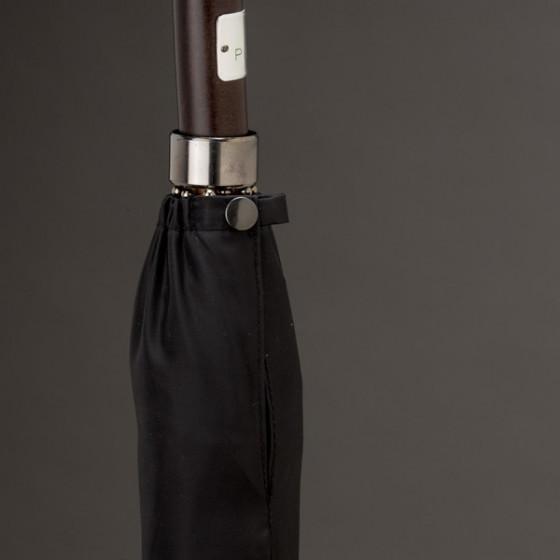 Parapluie Homme Uni Noir droit manuel 10 baleines