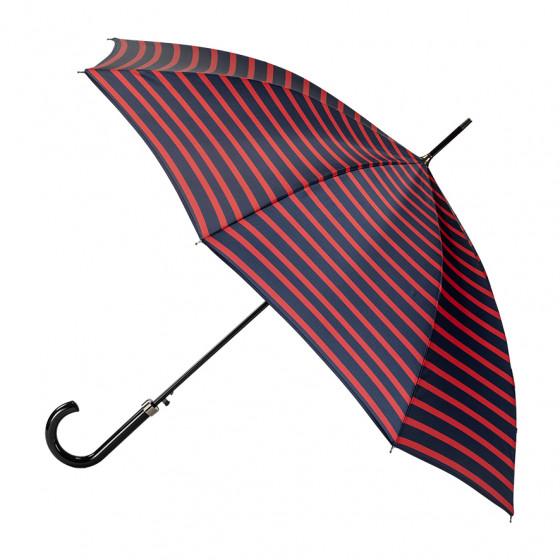 Parapluie Femme Canne Marinière ROUGE