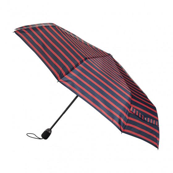 Parapluie Femme Pliant Marinière ROUGE