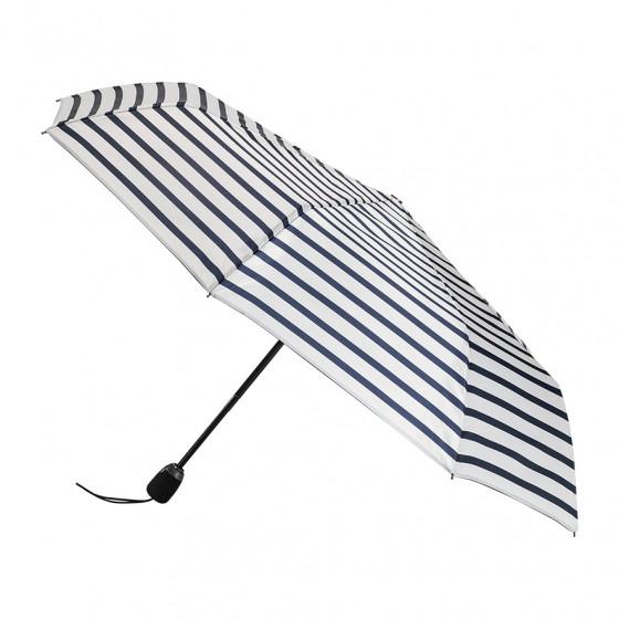 Parapluie Femme Pliant Marinière Ecru