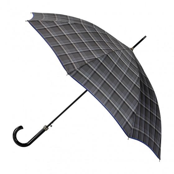 Parapluie canne Homme Edouard finition Bleue